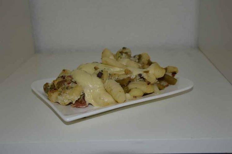 Gnocchi carbonara met bonen