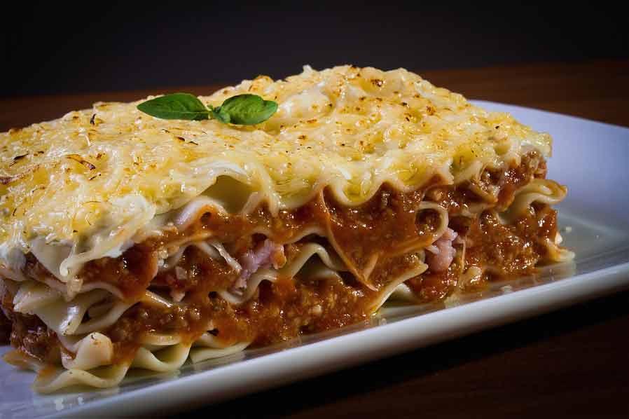 Lasagne met tomatensaus
