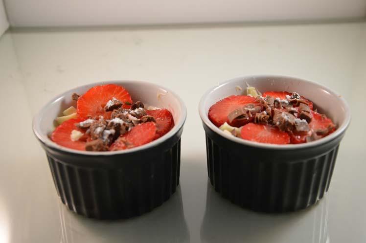 Mascarponekwark met aardbeien
