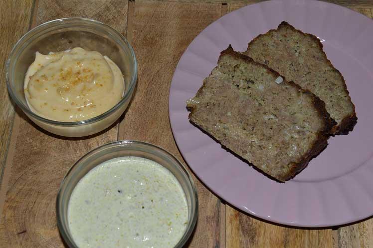 Gehaktbrood pesto met basilicumsaus